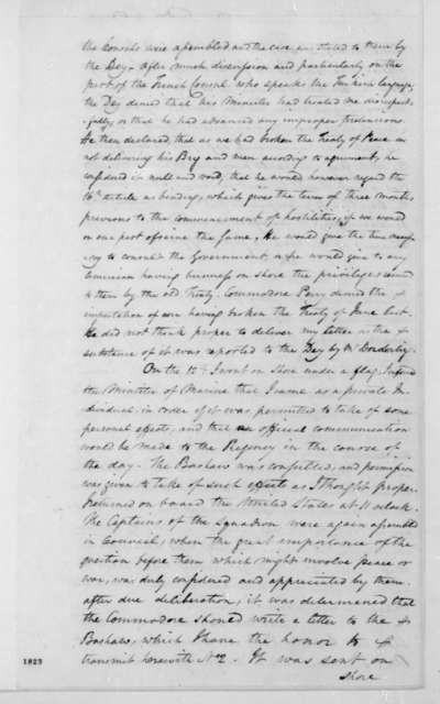 William Shaler to James Monroe, April 15, 1816.
