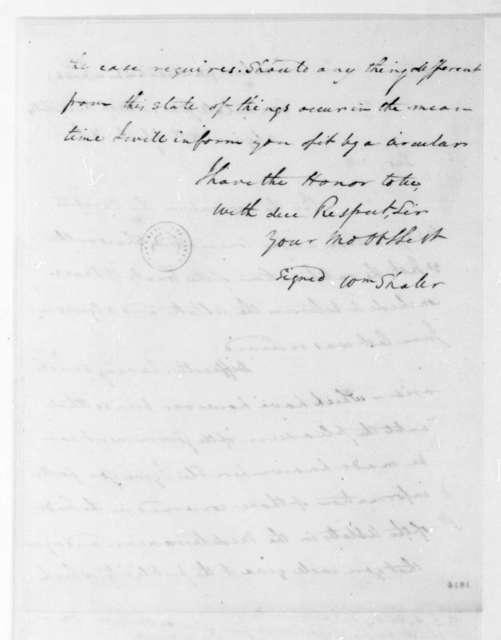William Shaler to James Monroe, April 15, 1816. Includes list of Algerian Navy.