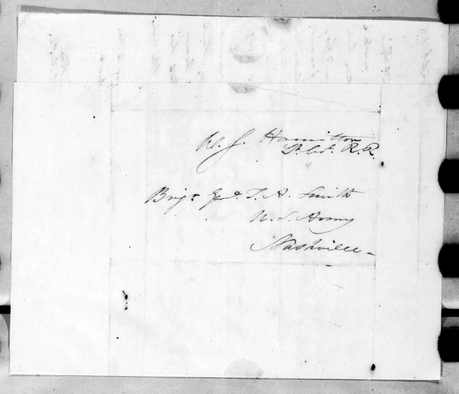 William Southerland Hamilton to Thomas Adams Smith, September 3, 1816