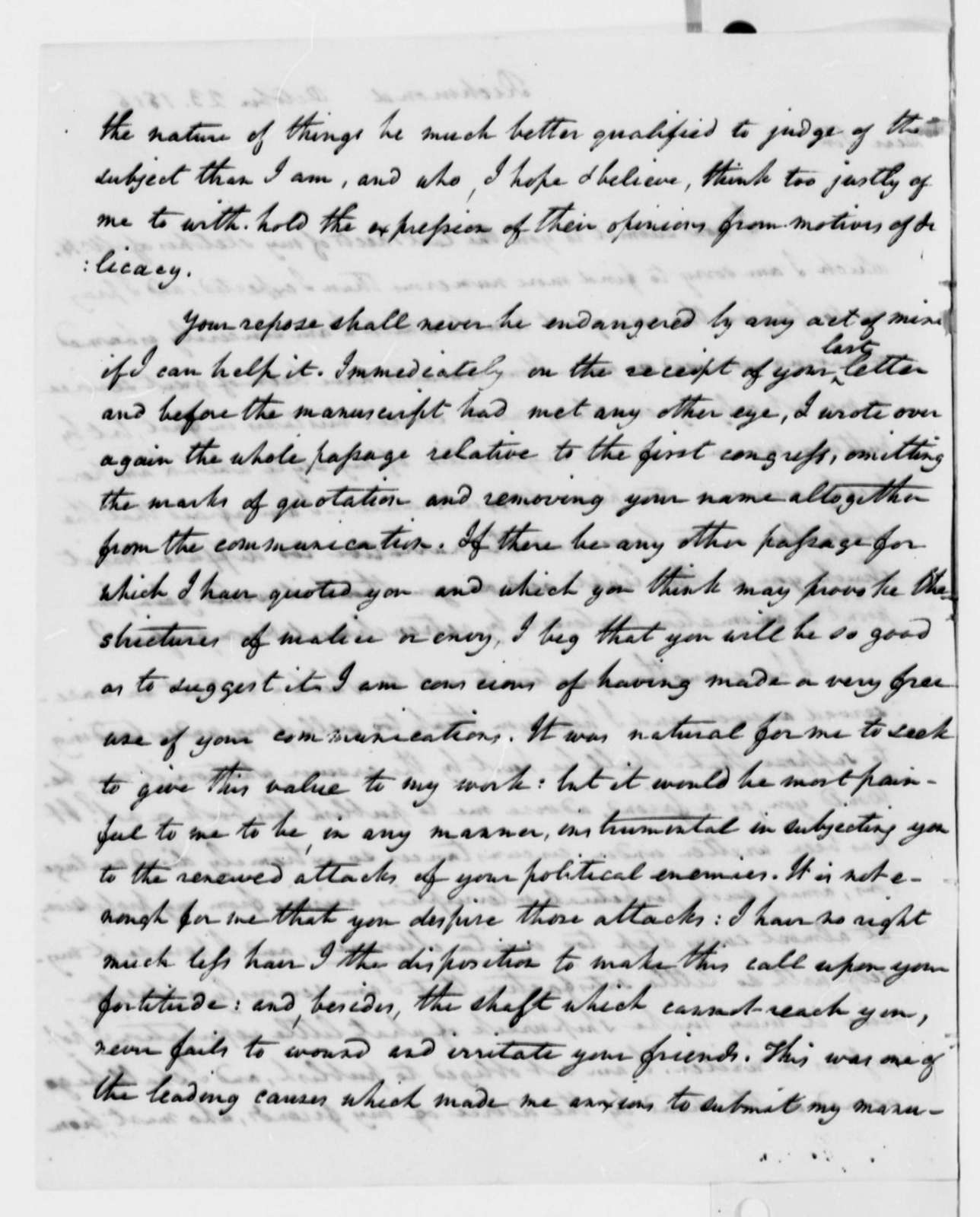 William Wirt to Thomas Jefferson, October 23, 1816