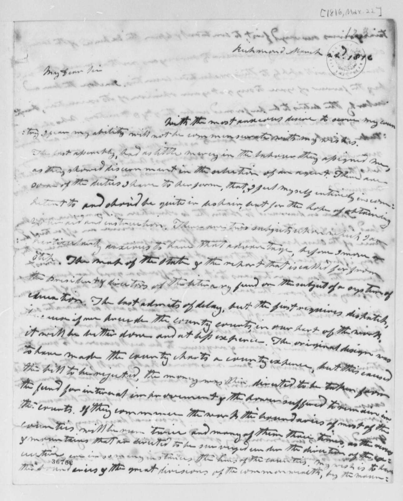 Wilson Cary Nicholas to Thomas Jefferson, March 22, 1816