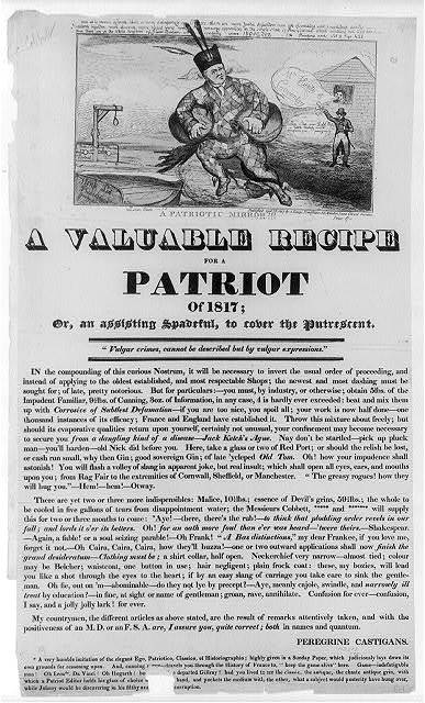 A valuable recipe for a patriot of 1817