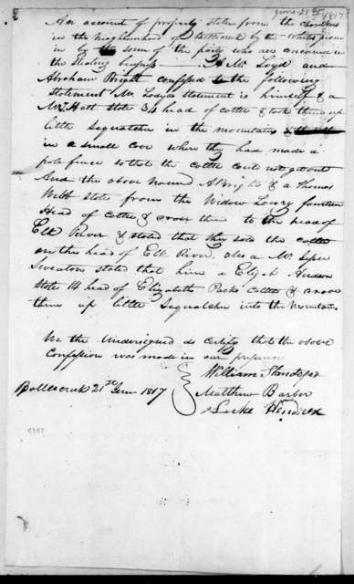 A. W. Loyd and Abraham Bright, June 21, 1817