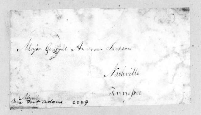 Abner Lawson Duncan to Andrew Jackson, January 27, 1817