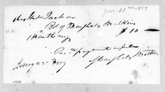 Andrew Jackson to Marshall & Watkins, January 23, 1817