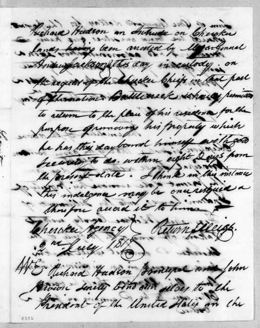Andrew Jackson to William Brown, July 2, 1817