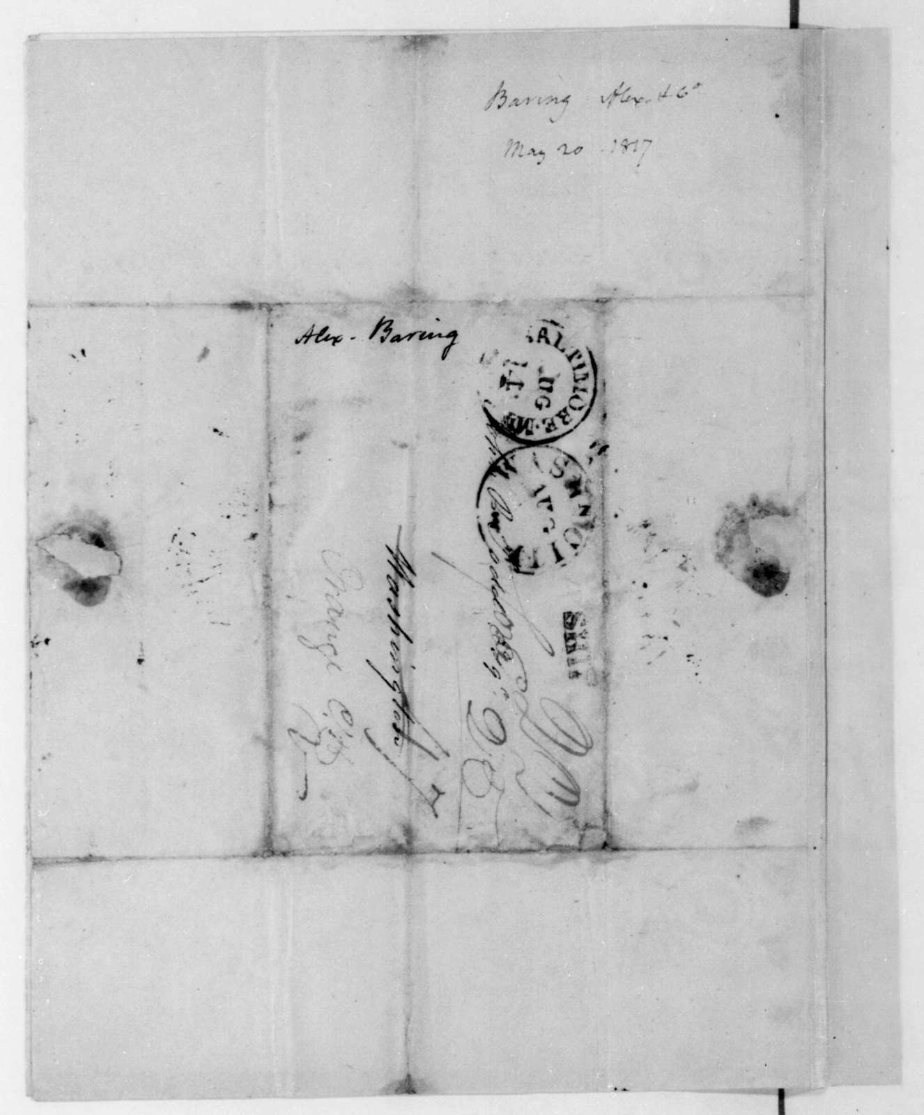 Baring Brothers & Co. to John P. Todd, May 20, 1817. With Account.