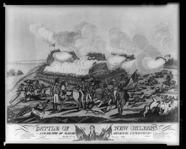 Battle of New Orleans and death of Major General Packenham [sic] on the 8th of January 1815 / West del. ; J. Yeager sc.