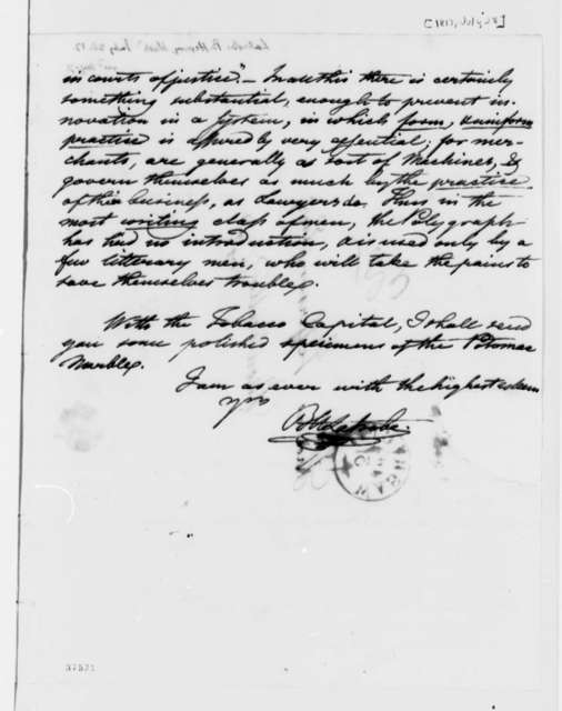 Benjamin H. Latrobe to Thomas Jefferson, July 28, 1817