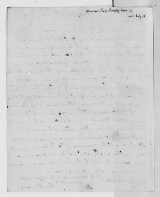 Benjamin Harrison to Thomas Jefferson, July 11, 1817