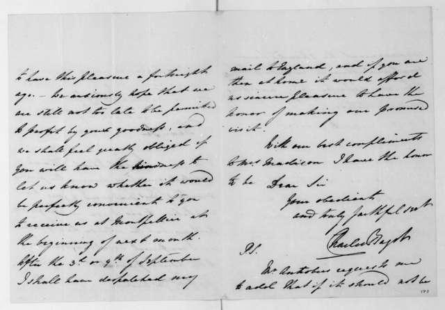 Charles Bagot to James Madison, August 26, 1817.