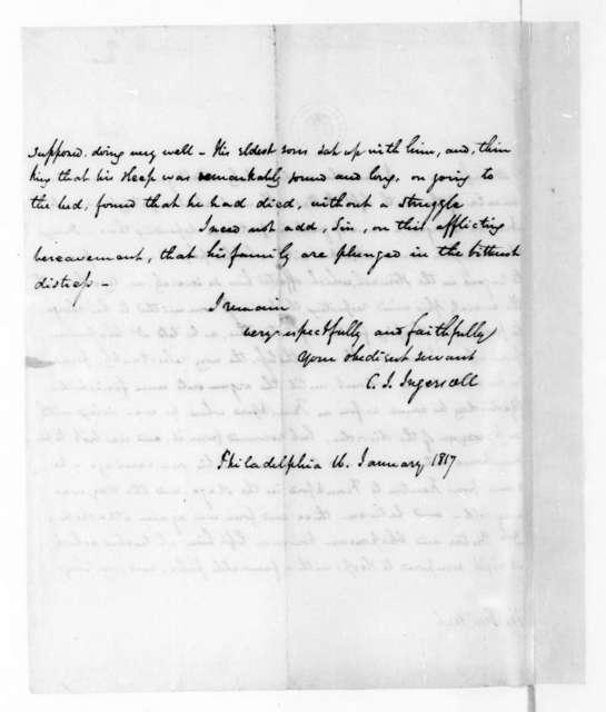 Charles J. Ingersoll to James Madison, January 16, 1817.