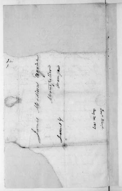 Charles Stuart Waugh to James Madison, August 30, 1817.