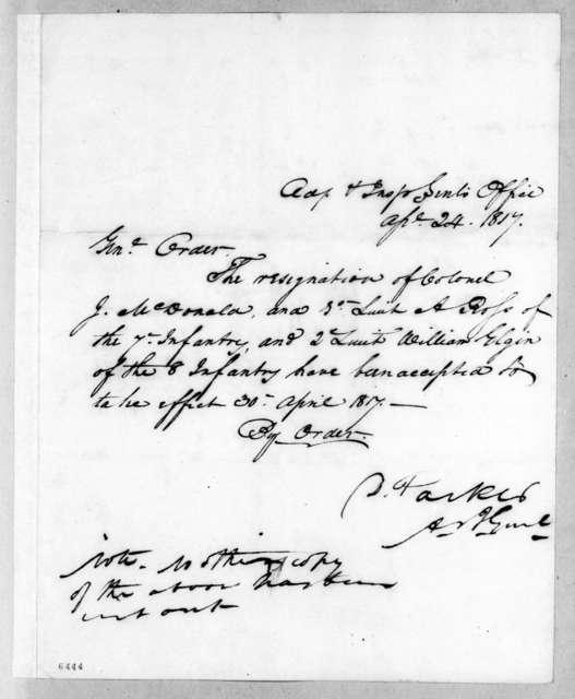 Daniel Parker, April 24, 1817