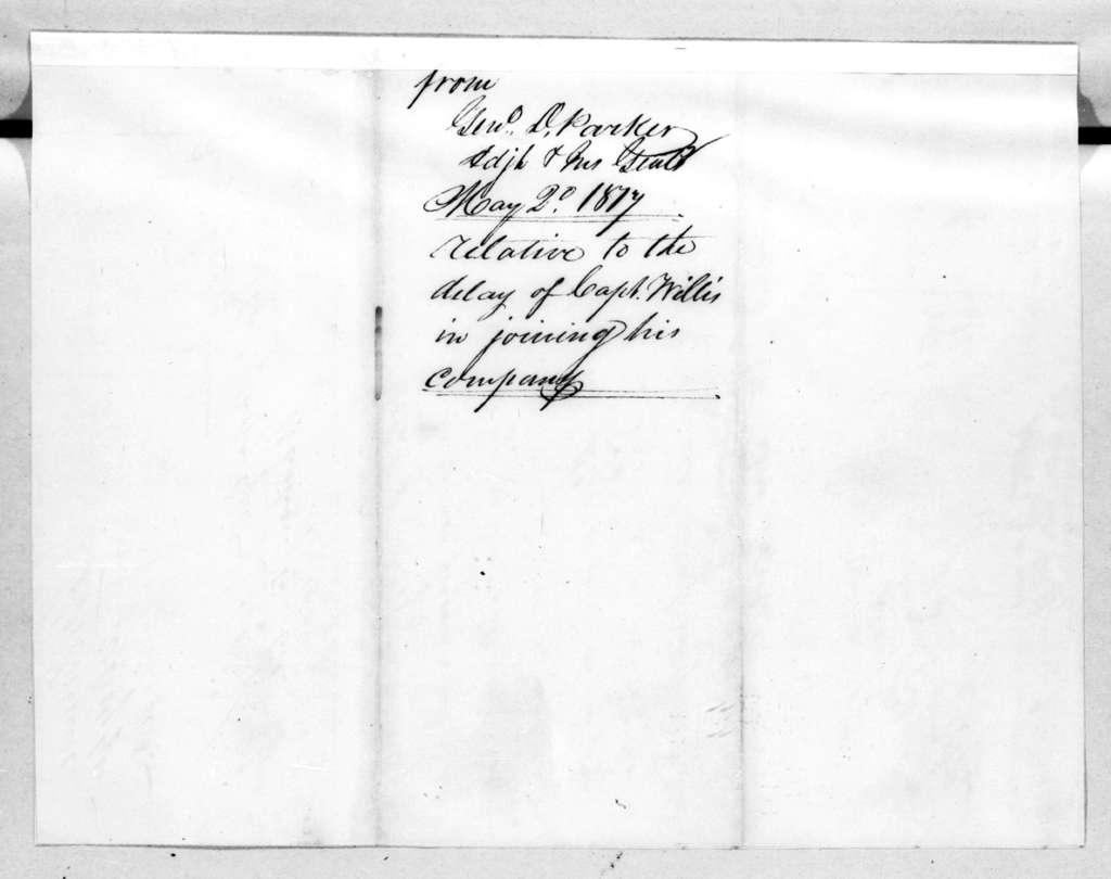 Daniel Parker, May 2, 1817