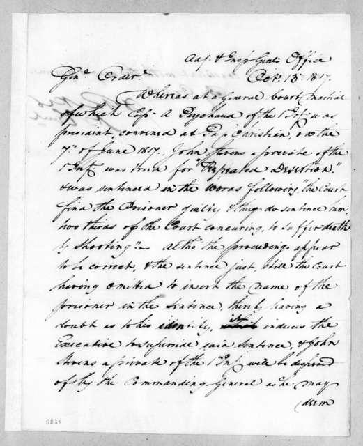 Daniel Parker, October 13, 1817