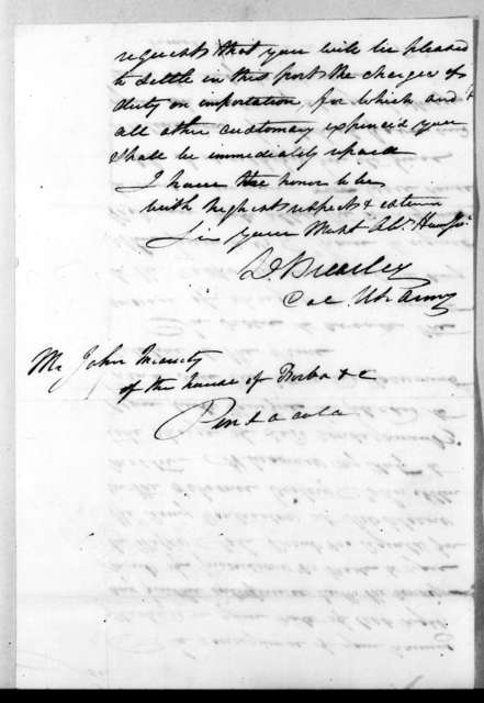 David Brearley to John Innerarity, April 16, 1817