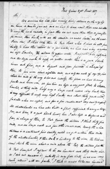 David Emanual Twiggs to Edmund Pendleton Gaines, June 29, 1817