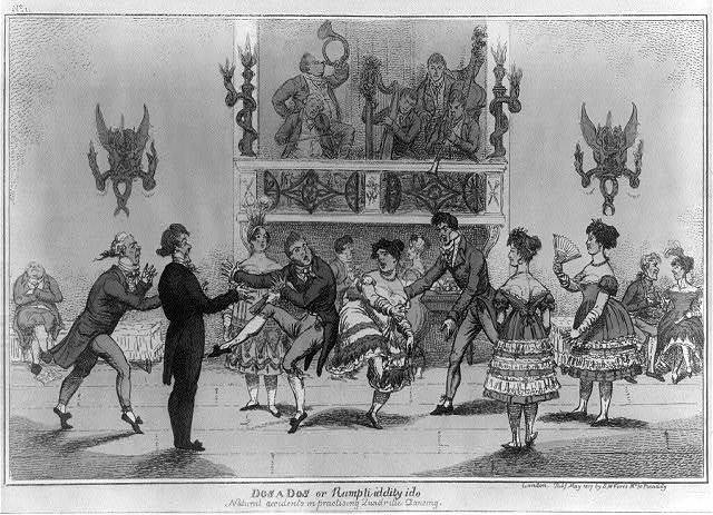 Dos a dos or rumpti iddito ido natural accidents in practising quadrille dancing. No. 1 / [Williams].