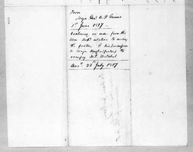 Edmund Pendleton Gaines to Andrew Jackson, June 1, 1817
