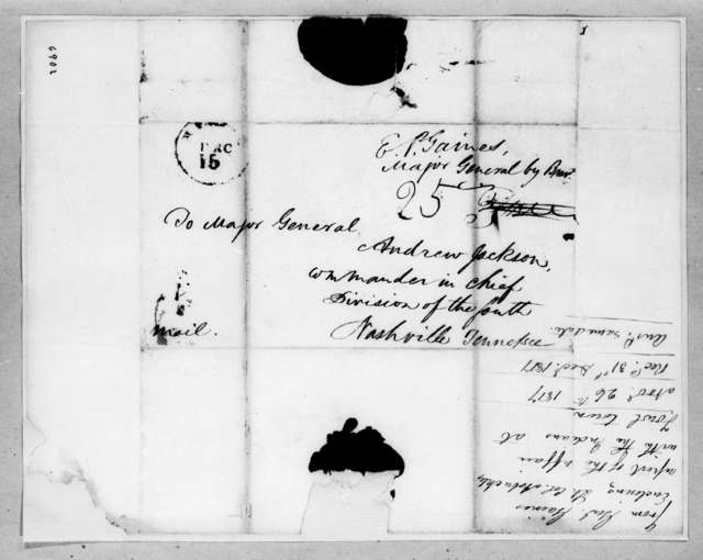 Edmund Pendleton Gaines to Andrew Jackson, November 26, 1817