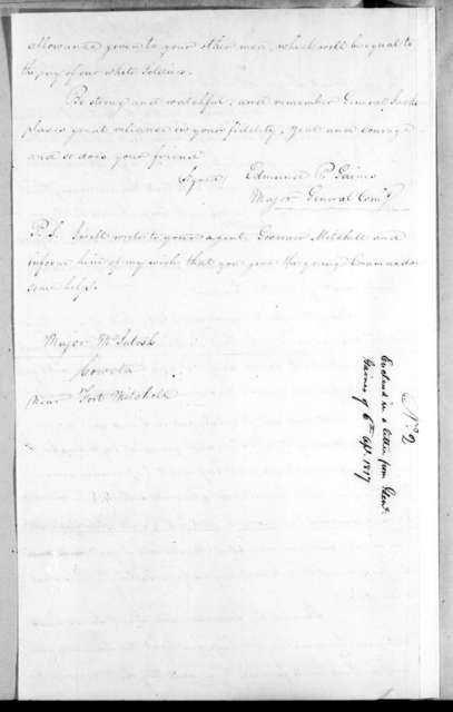 Edmund Pendleton Gaines to William McIntosh, April 2, 1817