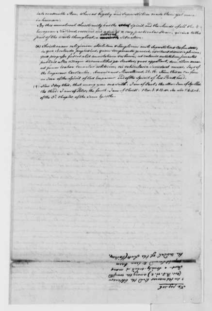 Francis A. van der Kemp to Thomas Jefferson, June 9, 1817, with Notes on Christian Religion