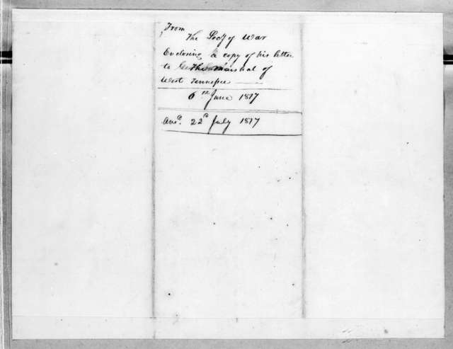 George Graham to Andrew Jackson, June 6, 1817