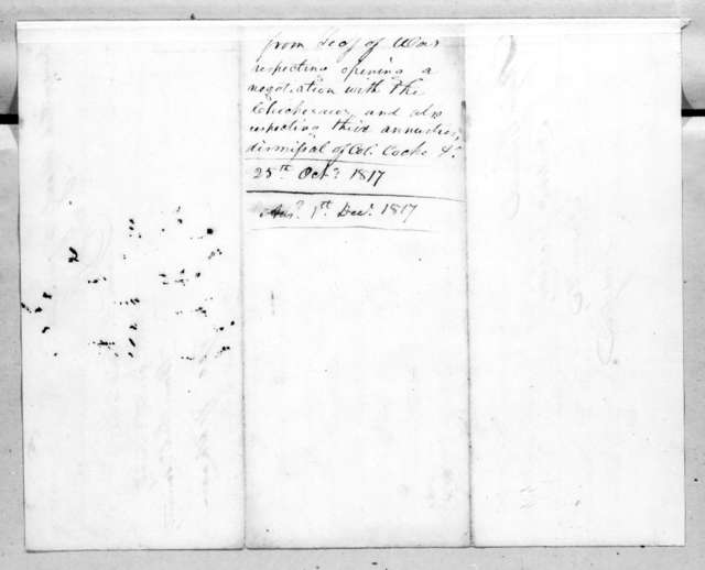 George Graham to Andrew Jackson, October 25, 1817