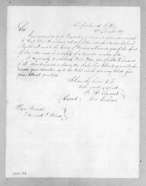 George Graham to Edmund Pendleton Gaines, November 12, 1817