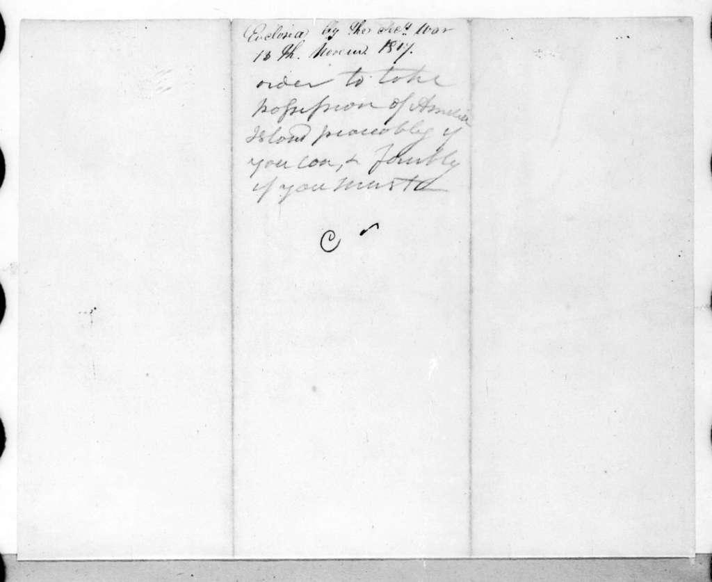 George Graham to James Bankhead, November 12, 1817