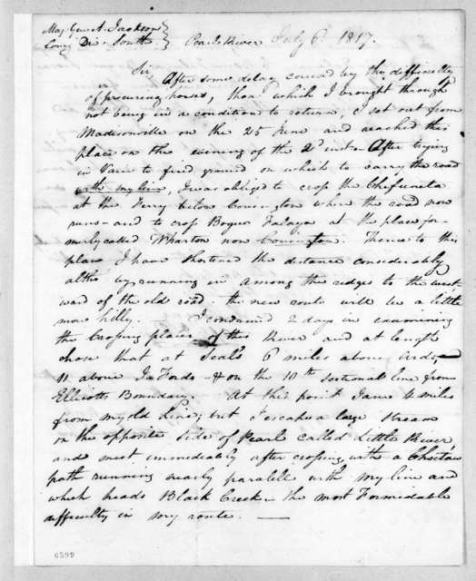 Hugh Young to Andrew Jackson, July 6, 1817