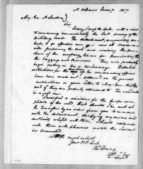 Hugh Young to Andrew Jackson, June 7, 1817
