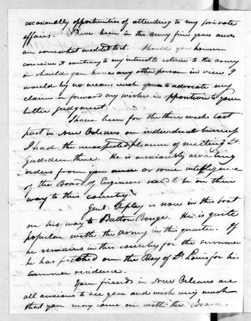 Isaac Lewis Baker to Andrew Jackson, April 16, 1817