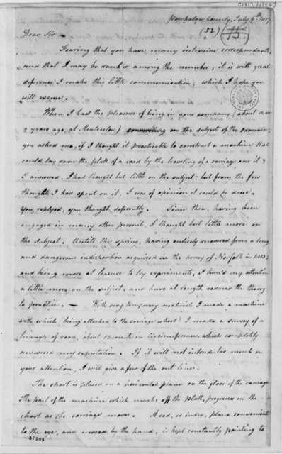 James Clarke to Thomas Jefferson, July 6, 1817