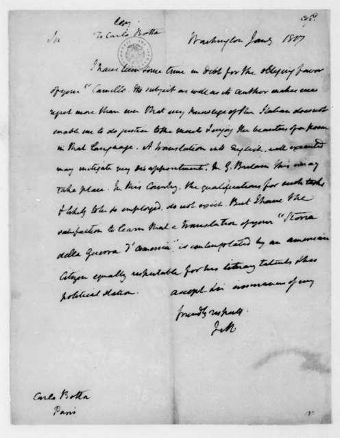 James Madison to Carlo Botta, January, 1817.