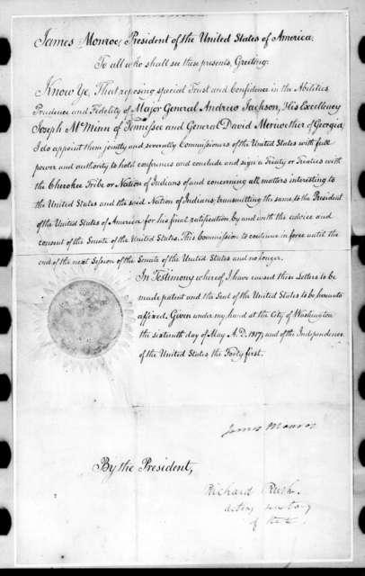James Monroe to Andrew Jackson, Joseph McMinn and David Meriwether, May 16, 1817