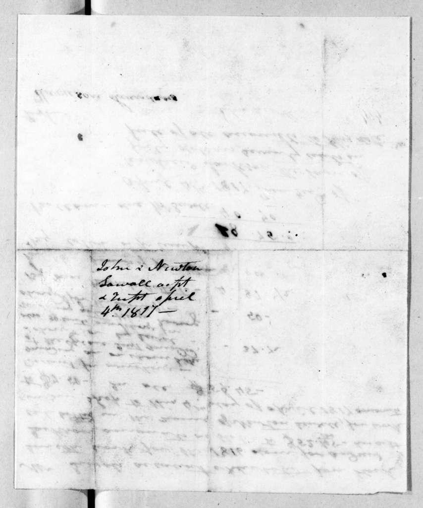 John & Newton Sewell to Andrew Jackson, April 4, 1817