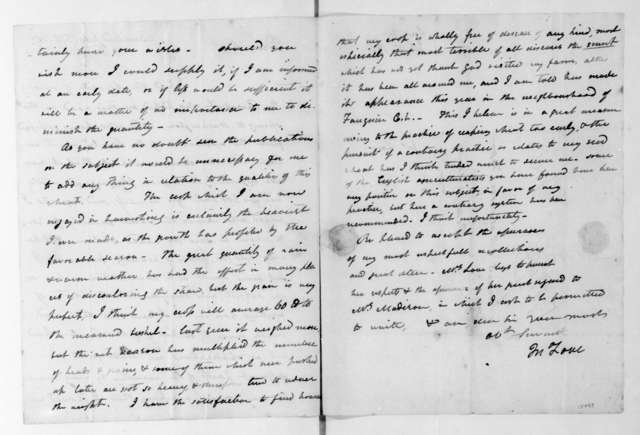 John Love to James Madison, July 15, 1817.