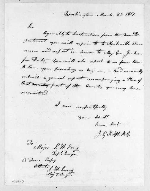 Joseph Gardner Swift to Stephen Harriman Long, March 23, 1817