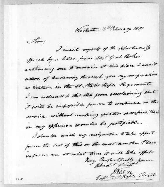 Joseph Kean to Thomas Adams Smith, February 15, 1817