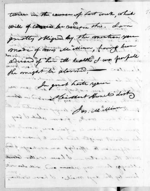 Joseph McMinn to Andrew Jackson, September 1, 1817