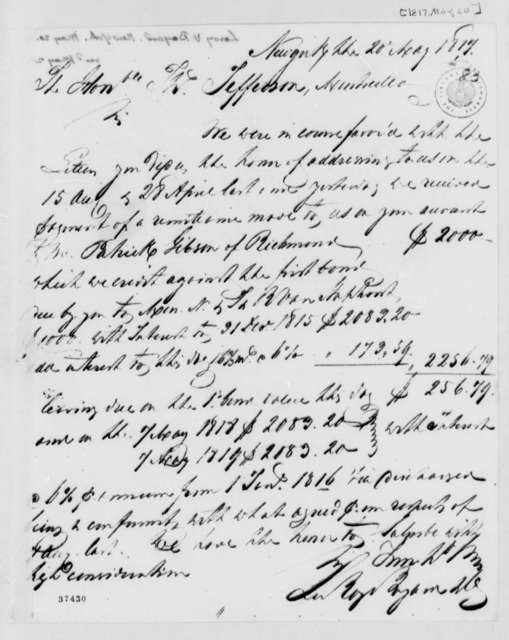 Leroy-Bayard & Company to Thomas Jefferson, May 20, 1817