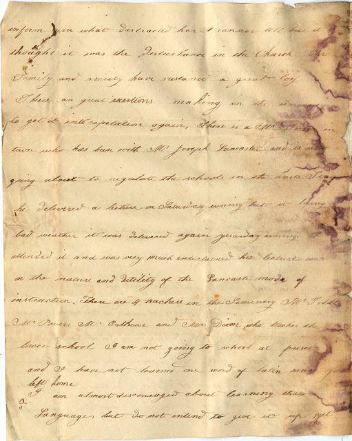 Letter from Amanda Wilson to George Wilson