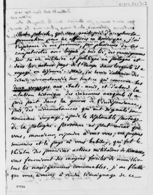 Marc Antoine Jullien to Thomas Jefferson, November 30, 1817, in French