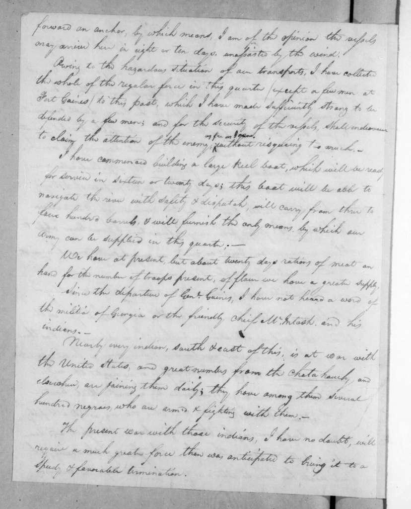 Mathew Arbuckle to Andrew Jackson, December 19, 1817