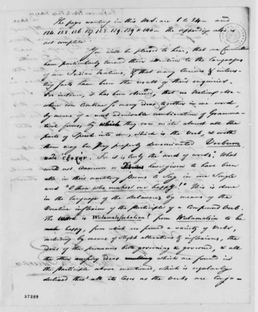 Peter S. du Ponceau to Thomas Jefferson, February 17, 1817