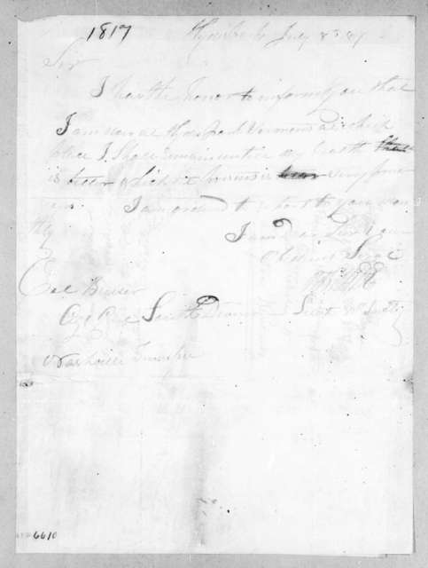 R. B. Hyde to Robert Butler, July 8, 1817