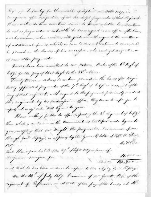 Robert Brent to George Graham, November 12, 1817