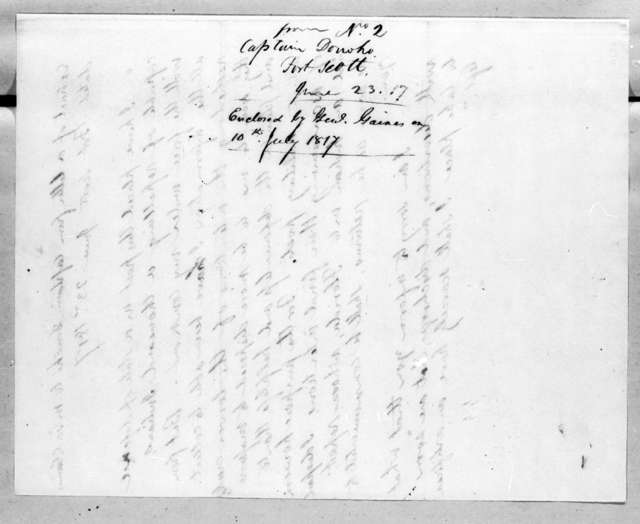 Sanders Donoho to Edmund Pendleton Gaines, June 23, 1817
